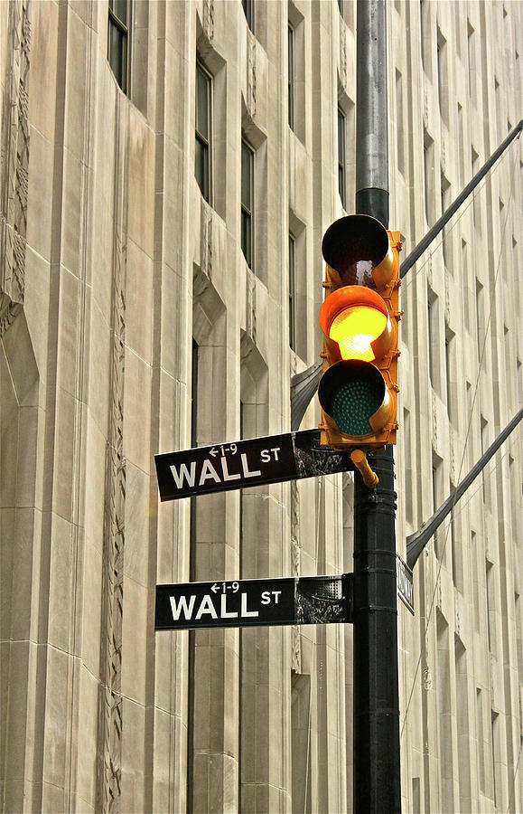 Wall Street Traffic Light Photograph by Oonat
