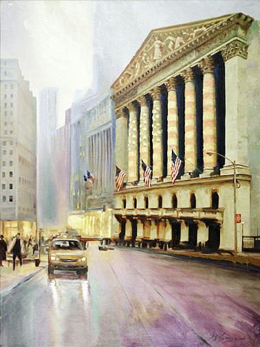 Wall Street Painting - Wall Street Tribute by George Mamos