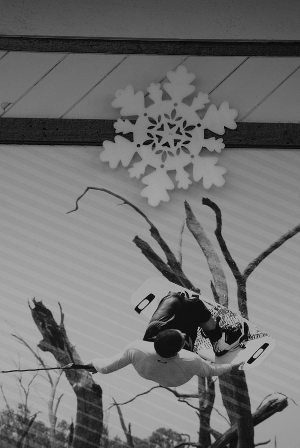 Snow Flake Photograph - Wall Surfing With A Snow Flake by Rob Hans