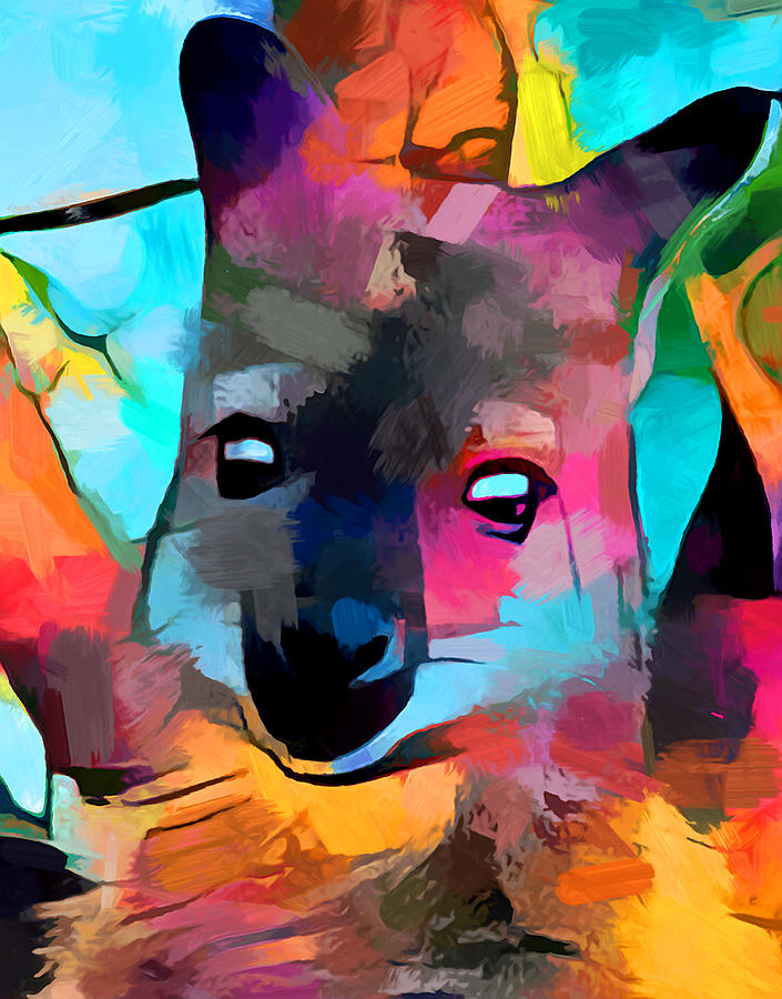 Animal Painting - Wallaby by Chris Butler