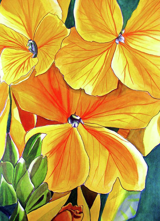 Flower Painting - Wallflower by Sacha Grossel