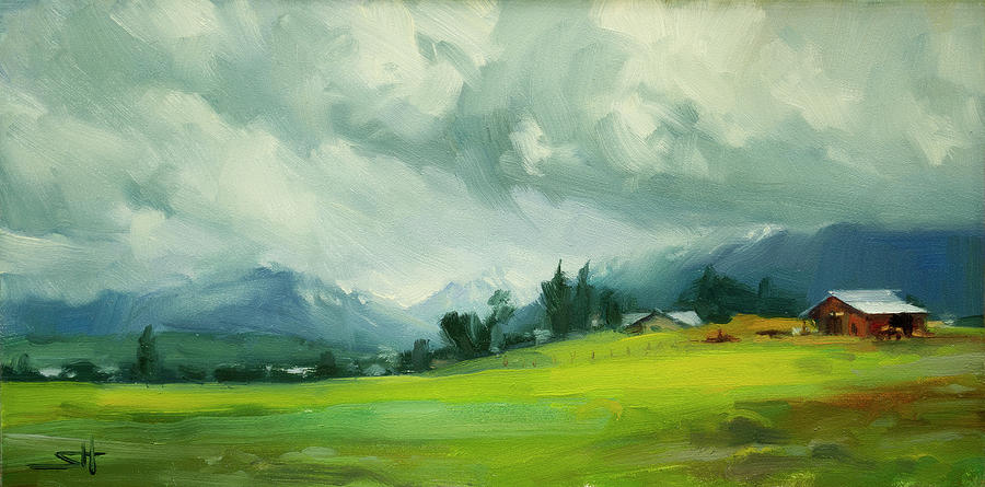 Wallowa Valley Storm Painting