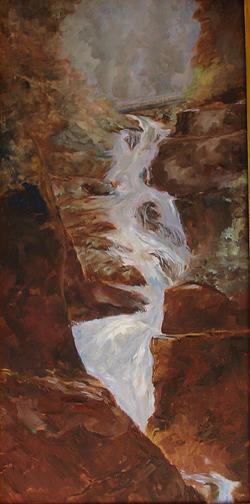 Landscape Painting - Wallowa Waterfall by Joanne Massingale