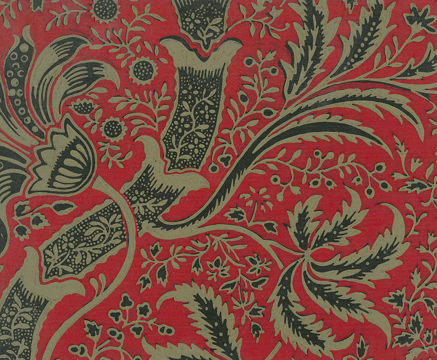 Background Painting - Wallpaper Sample With Bamboo Pattern By William Morris 1 by William Morris