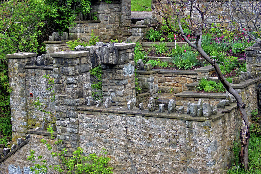 Gardens By Maria: Walls And Arches At Templin Gardens Photograph By Maria Keady