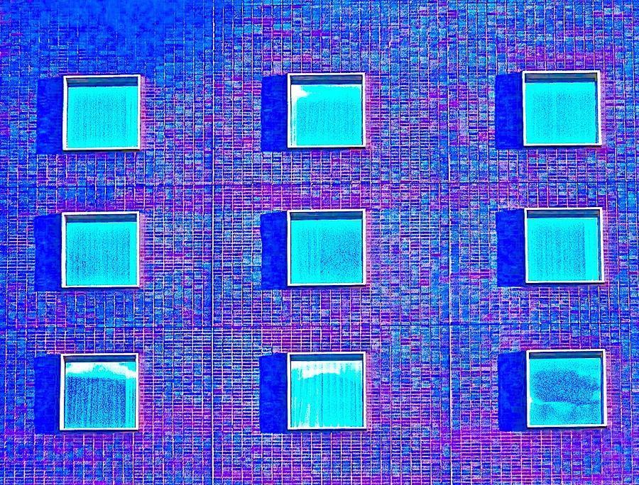 Windows Photograph - Walls Of Windows by Gillis Cone