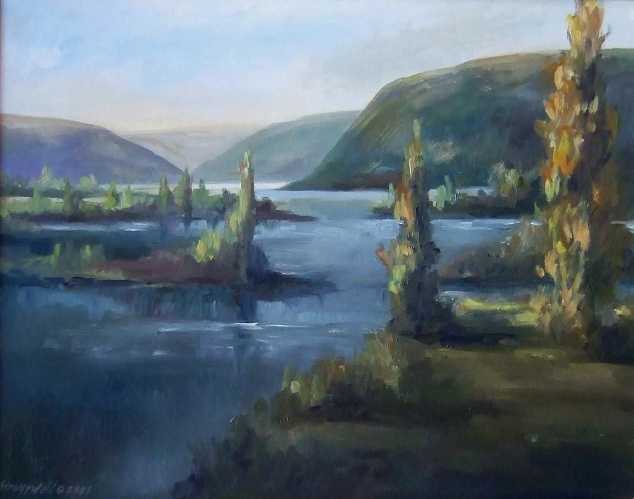 Wallula Gap October Painting by Ruth Stromswold