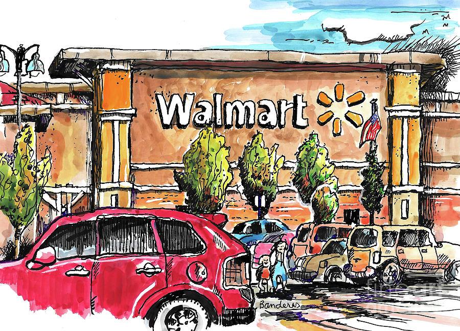 Walmart Sketching by Terry Banderas