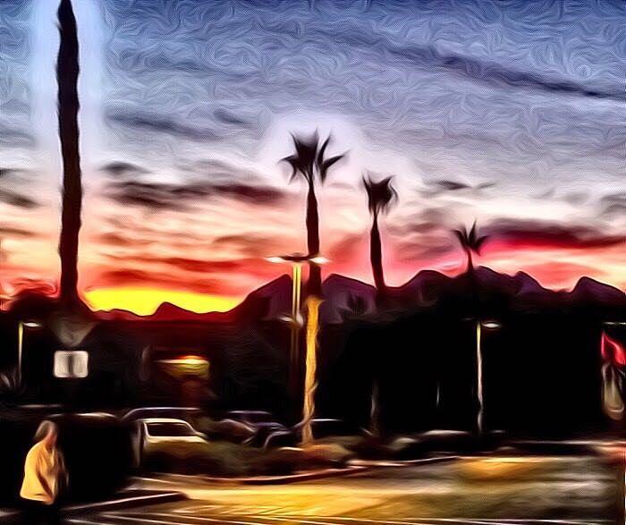 Walmart Sunset  by Karen Buford