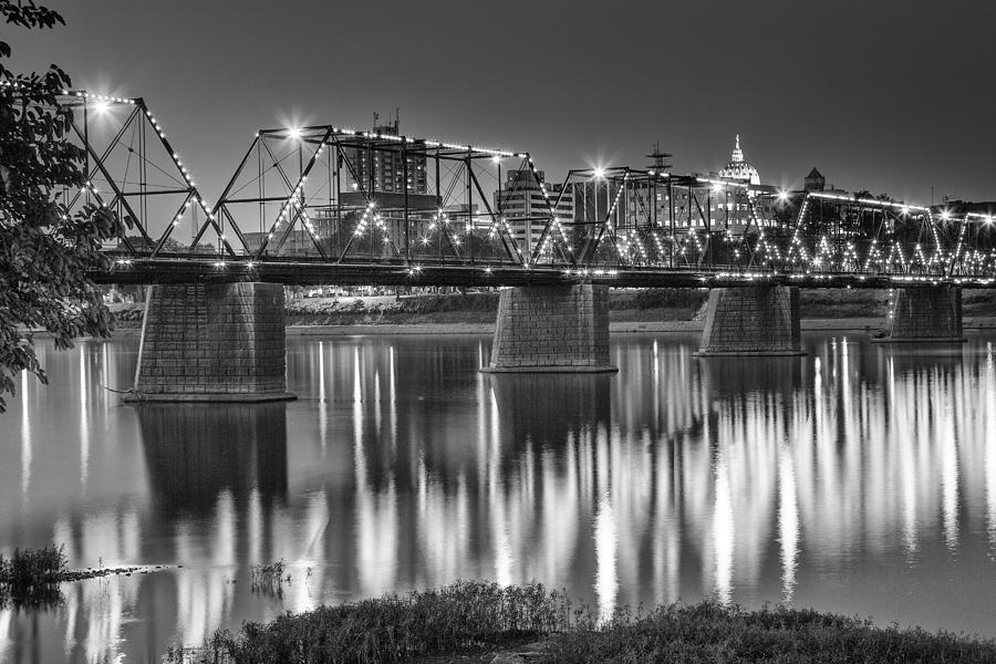 Harrisburg Photograph - Walnut Street Bridge And Capitol by John Daly