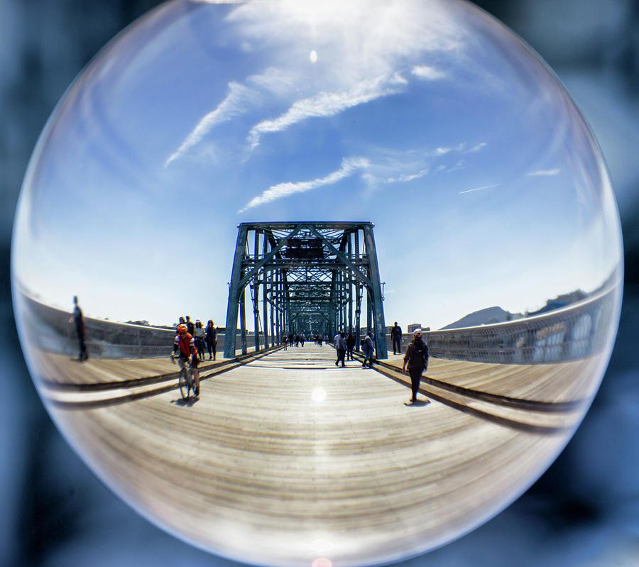 Walnut Street Bridge Lensball by Angel Sharum