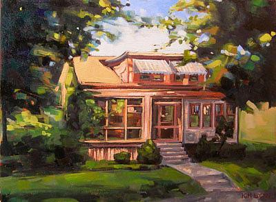 House Painting - Walnut Street by Kim Logan