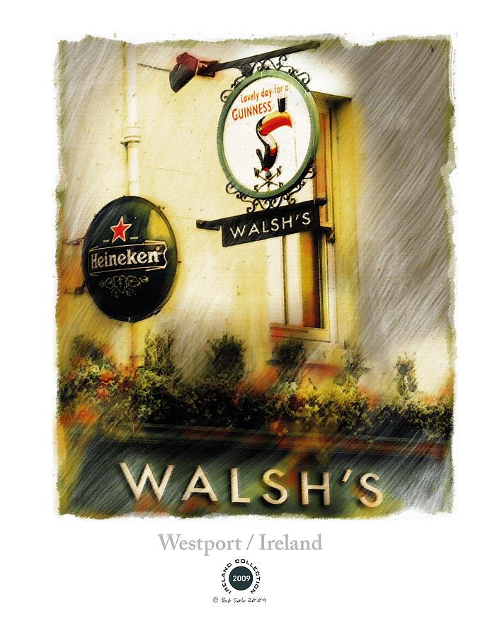 Ireland Painting - Walshs by Bob Salo
