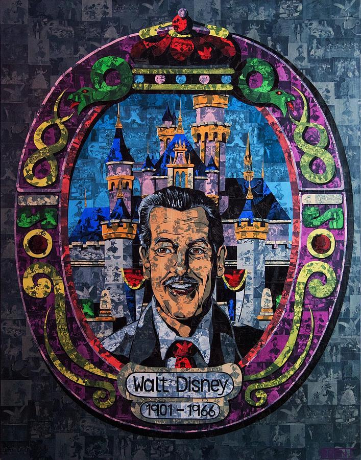 Walt Painting - Walt Disney by Brent Andrew Doty