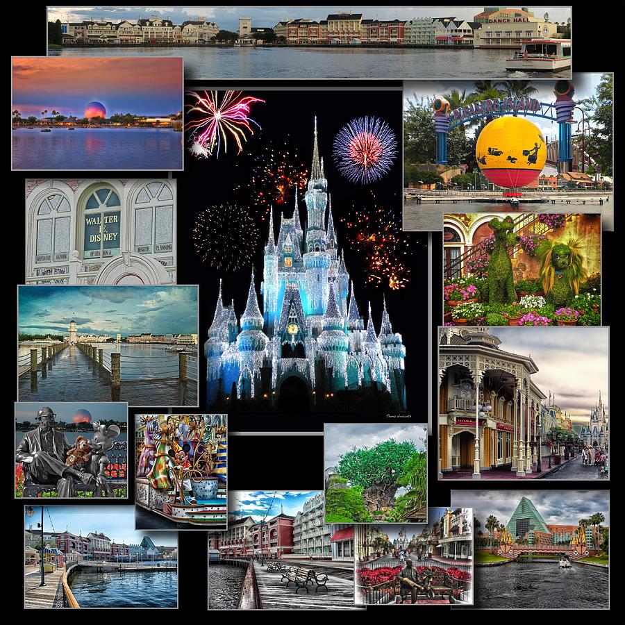 Walt Disney World Collage Photograph By Thomas Woolworth