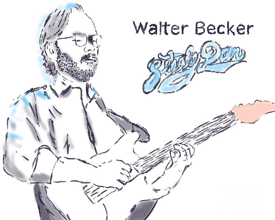 Walter Becker Painting - Walter Becker by Jack Bunds