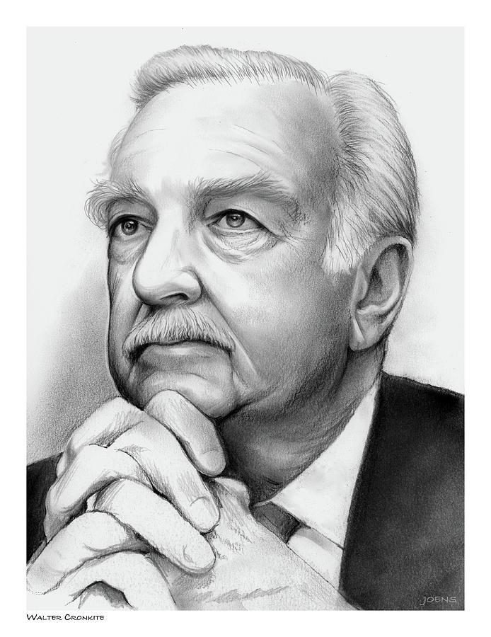 Walter Cronkite Drawing
