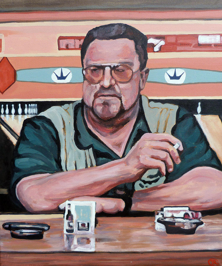 The Dude Painting - Walter Sobchak by Tom Roderick