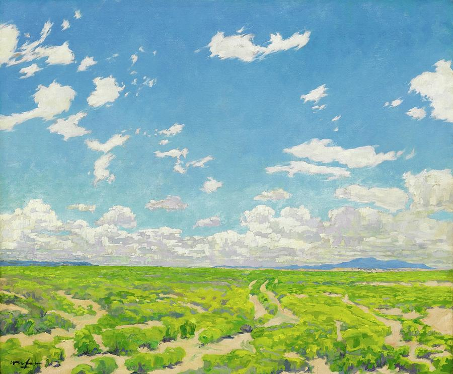 Nature Painting - Walter Ufer 1876 - 1936 The American Desert by Walter Ufer