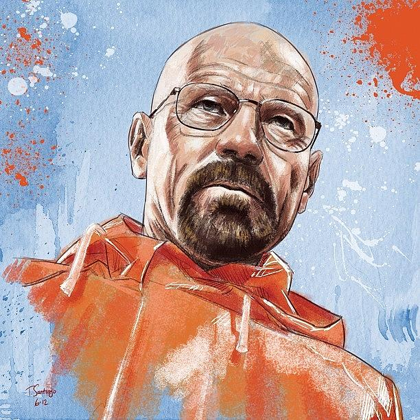 Portrait Photograph - Walter White by Tony Santiago