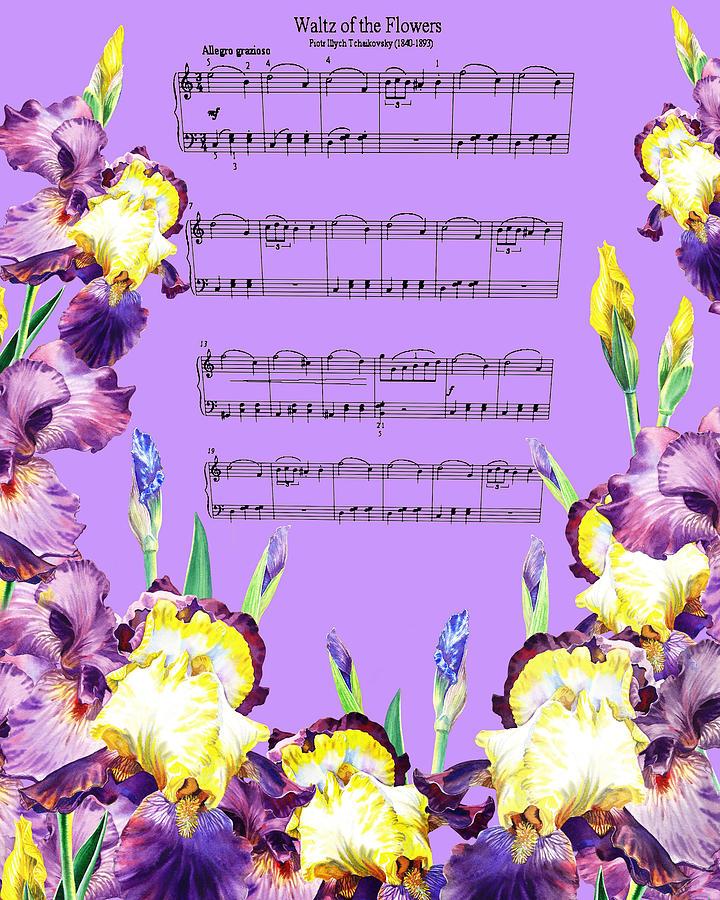 Iris Painting - Waltz Of The Flowers Dancing Iris by Irina Sztukowski