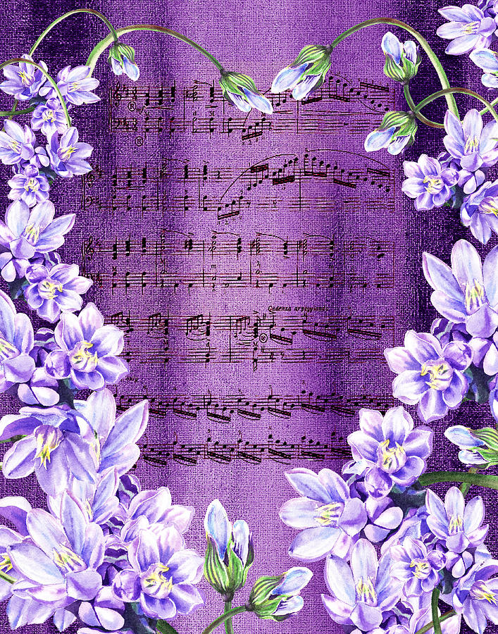 Waltz Of The Flowers In Purple Painting