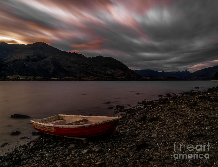 New Zealand Photograph - Wanaka Rowboat 2 by Paul Woodford