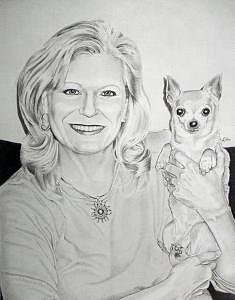 Wanda And Katie Drawing by Ben Liles