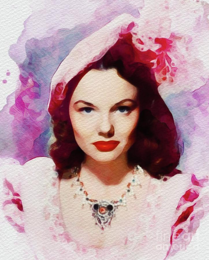 Wanda Painting - Wanda Hendrix, Vintage Movie Star by John Springfield