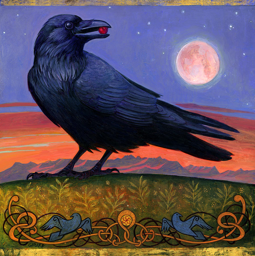 Raven Painting - Wanderers Moon by Francois Girard