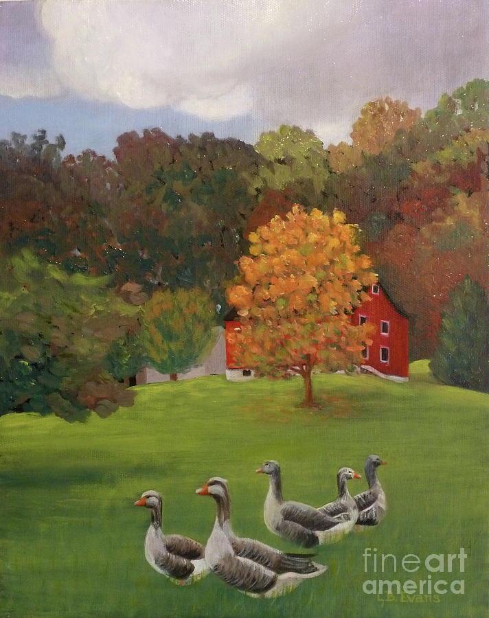Wandering Geese by Lynda Evans