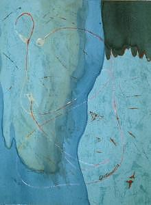 Abstract Painting - Wanderings by Les  W Dewar