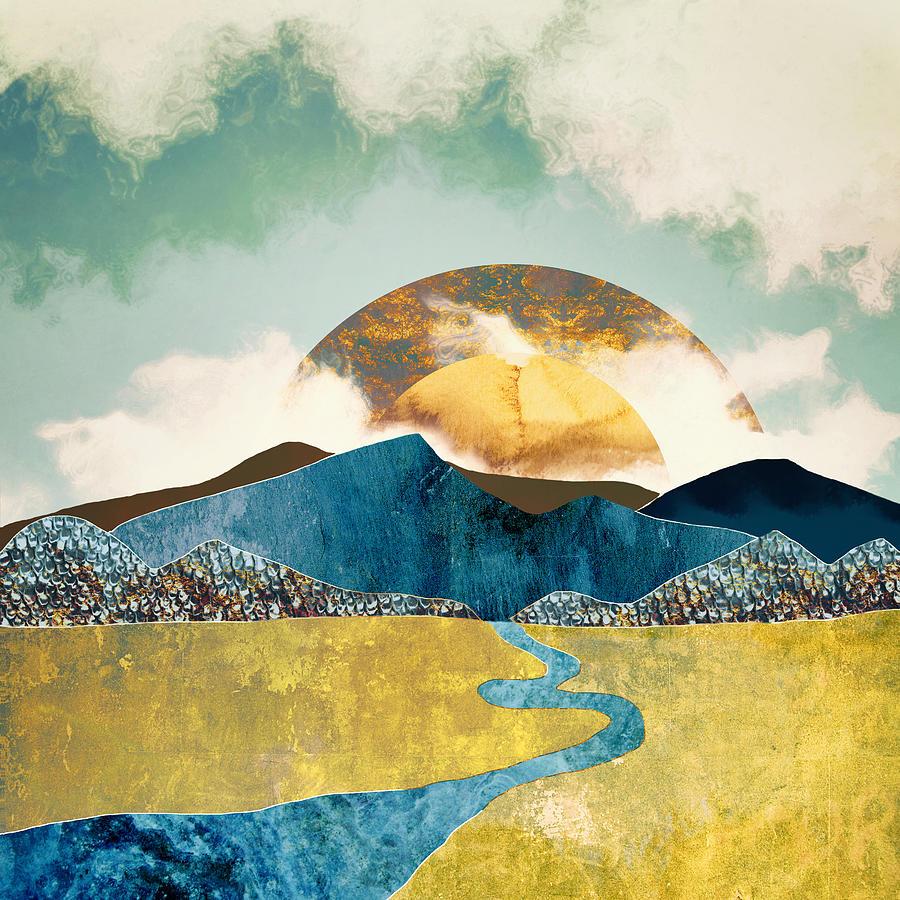 Mountains Digital Art - Wanderlust by Katherine Smit