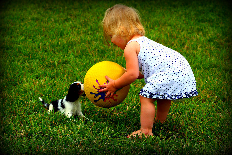 Baby Photograph - Wanna Play Ball by Susie Weaver