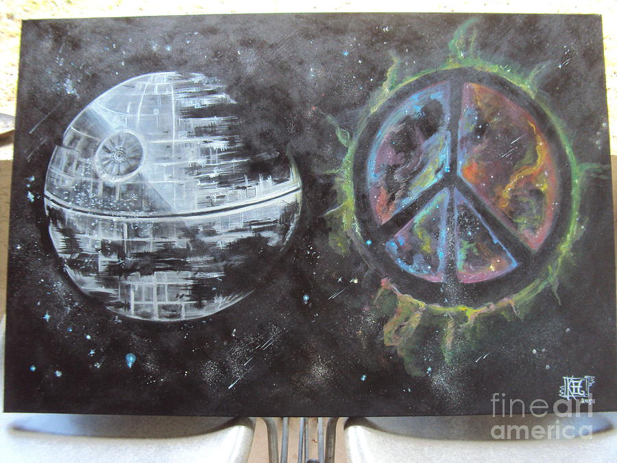 Star Wars Painting - War And Peace by Kelly Gannon
