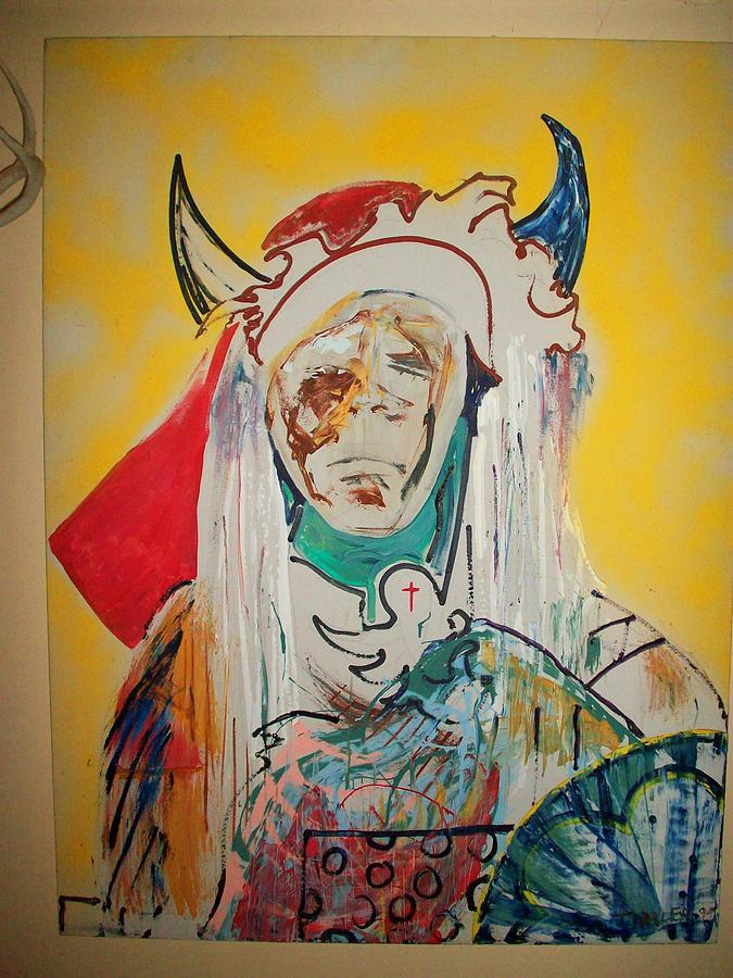 Indian Paintings Painting - War Chief by Todd Timler