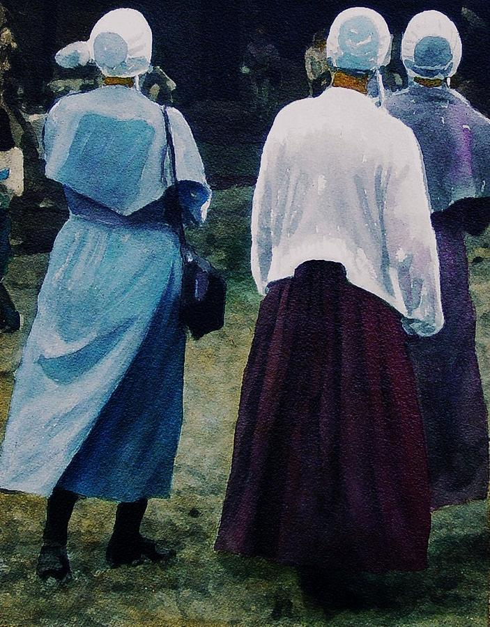 Oil Painting - War Eagle Ladies by Tom Herrin