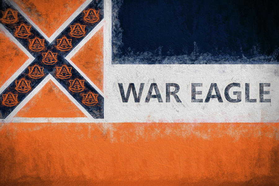 Auburn Digital Art - War Eagle Mississippi by JC Findley