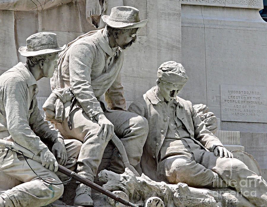Statue Photograph - War Has Always Been Hell by Mark Grayden