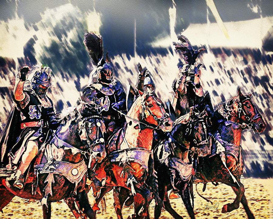 Cavalry Digital Art - War Horse of the Knights by Janice OConnor