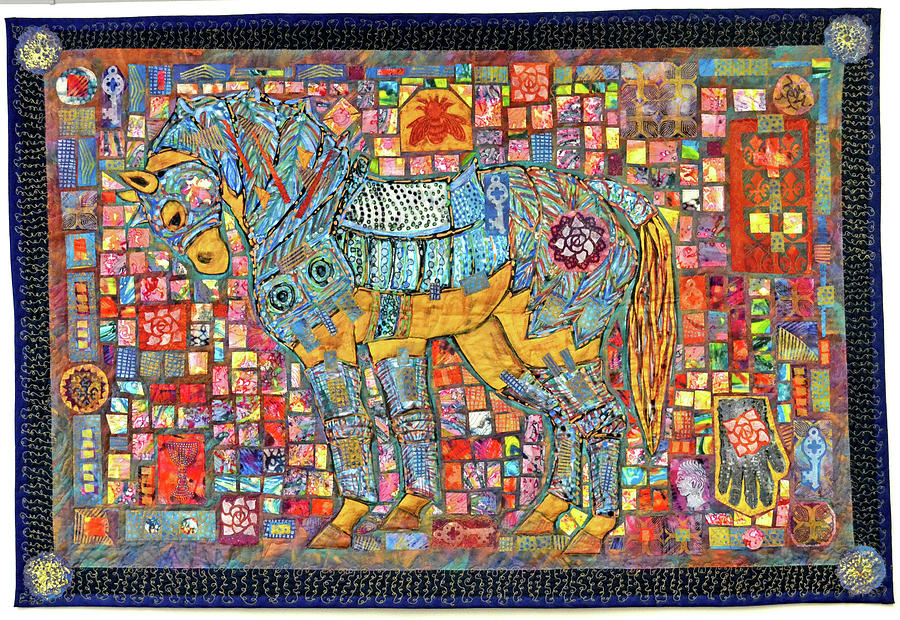 sewmod quilts batik themed tag quilt horse