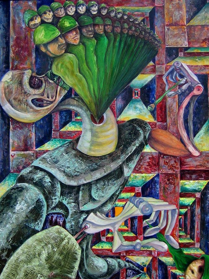 Paintings Painting - War Hunger by Horacio  Montes