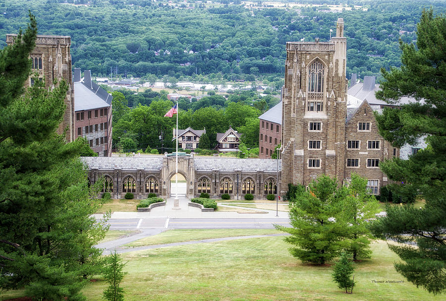 Cornell University Photograph - War Memorial Lyon Hall Cornell University Ithaca New York 01 by Thomas Woolworth