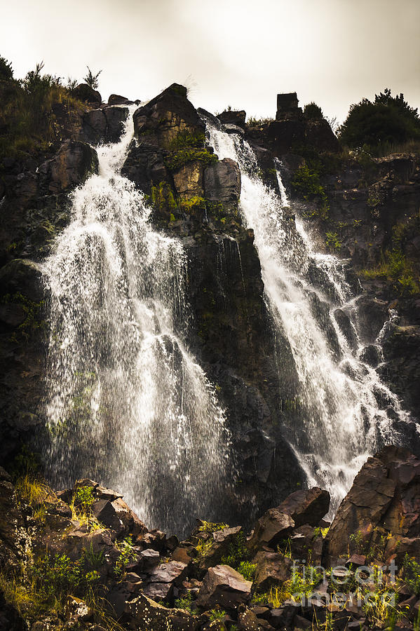 Falls Photograph - Waratah Water Falls In Tasmania Australia by Jorgo Photography - Wall Art Gallery