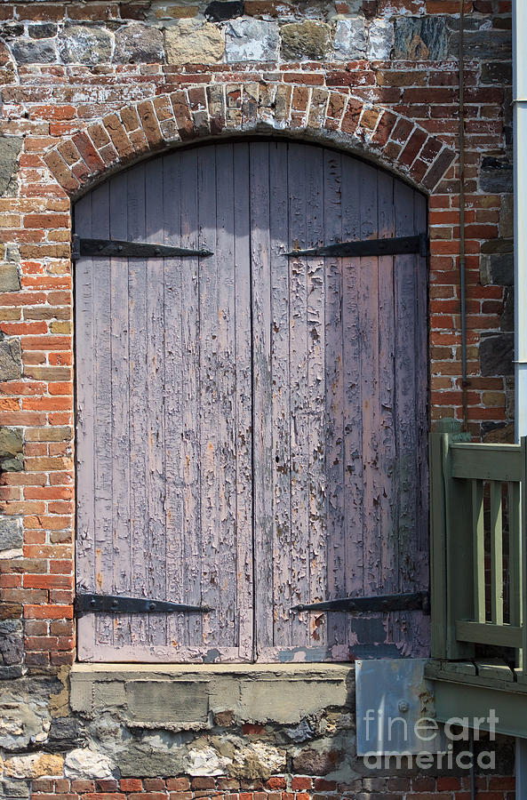 Wooden Photograph - Warehouse Wooden Door by Thomas Marchessault