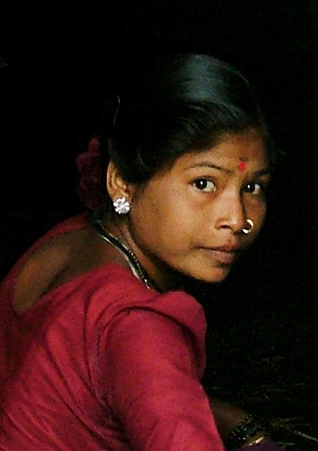 Woman Mixed Media - Warli Woman by Pramod Bansode