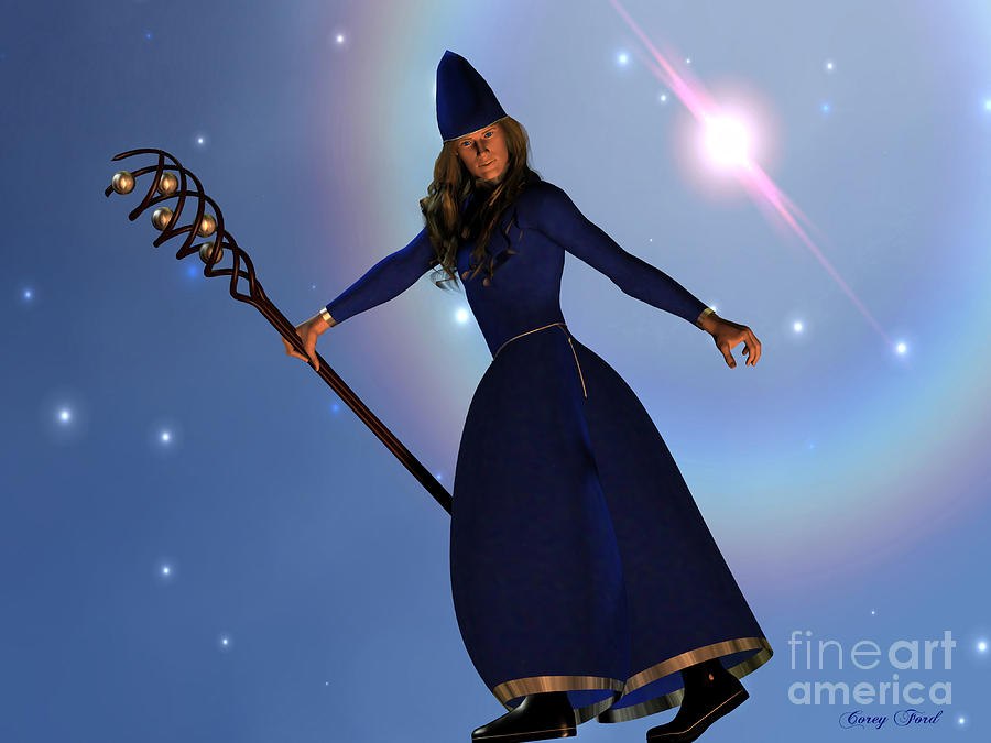 Witch Painting - Warlock by Corey Ford