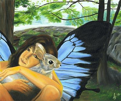 Faery Painting - Warm Affection  by Linda Laforge