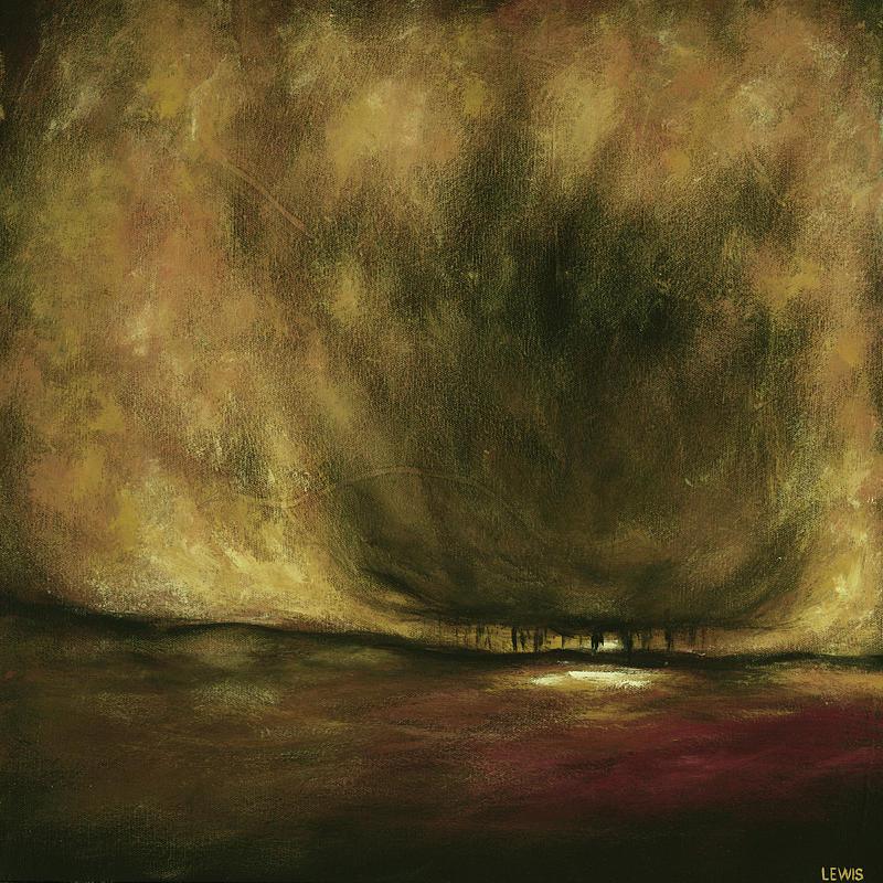 Landscape Painting - Warm by Ellen Lewis