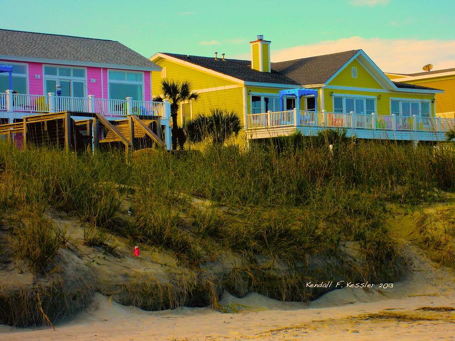 Isle Of Palms Photograph - Warm Evening At Isle Of Palms by Kendall Kessler